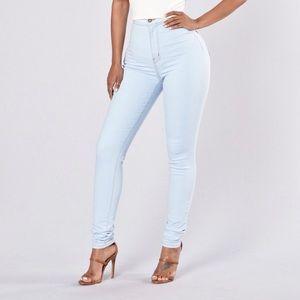 High Waist Jeans- Light Blue